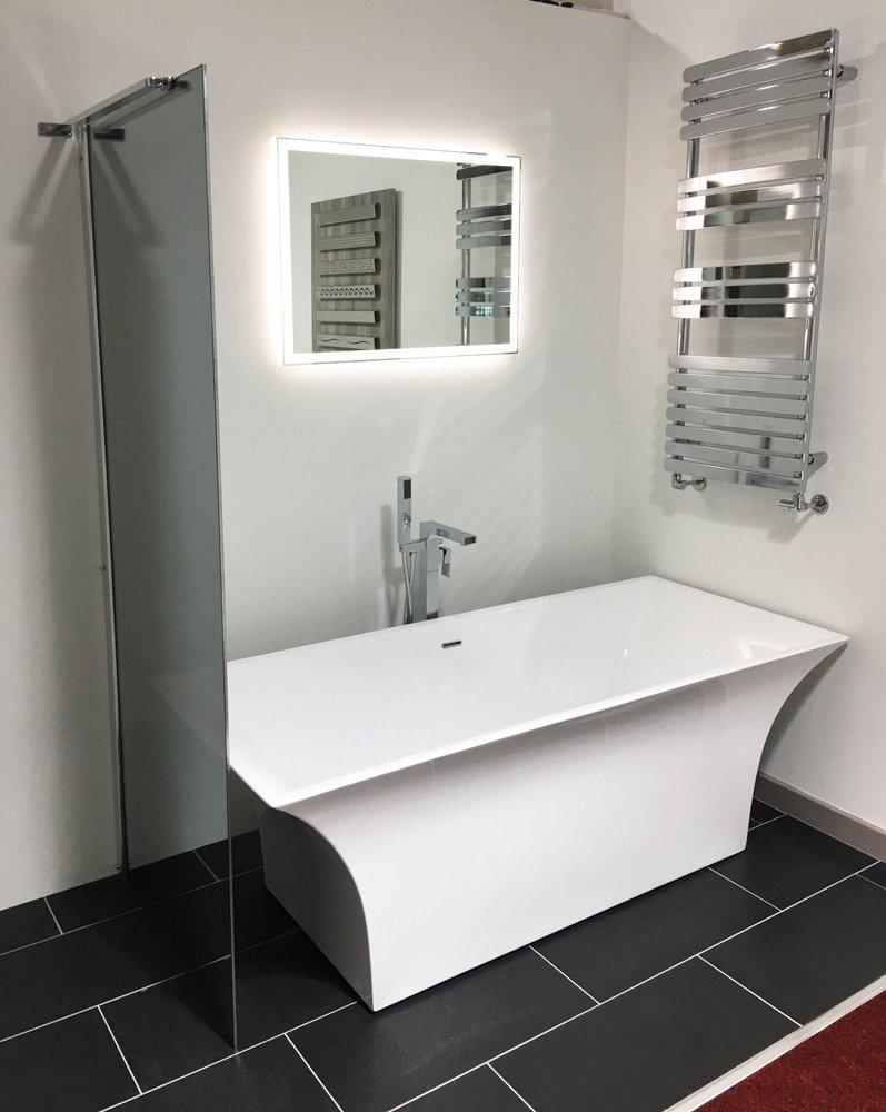 LED Bathroom Mirrors Wraith Designer Heat Demister, Touch Sensitive ...