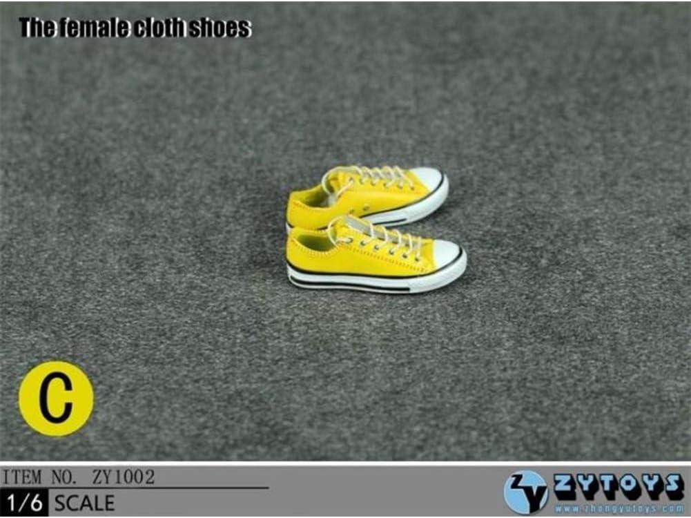 A SZDM 1//6 Dedos Tama/ño BJD Tela De Corte Bajo para Mujer Zapatos Casuales Ropa De Acci/ón para HT VERYCOOL TTL Play PHICEN