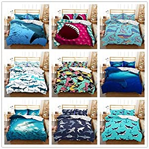 Tookkata 1 Set 3d Shark Comforter Cover Duvet Cover