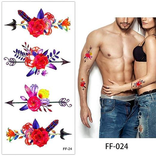 4 Piezas Alfabeto Cuerpo Tatuaje Pegatina Impermeable Brazo Cuello ...