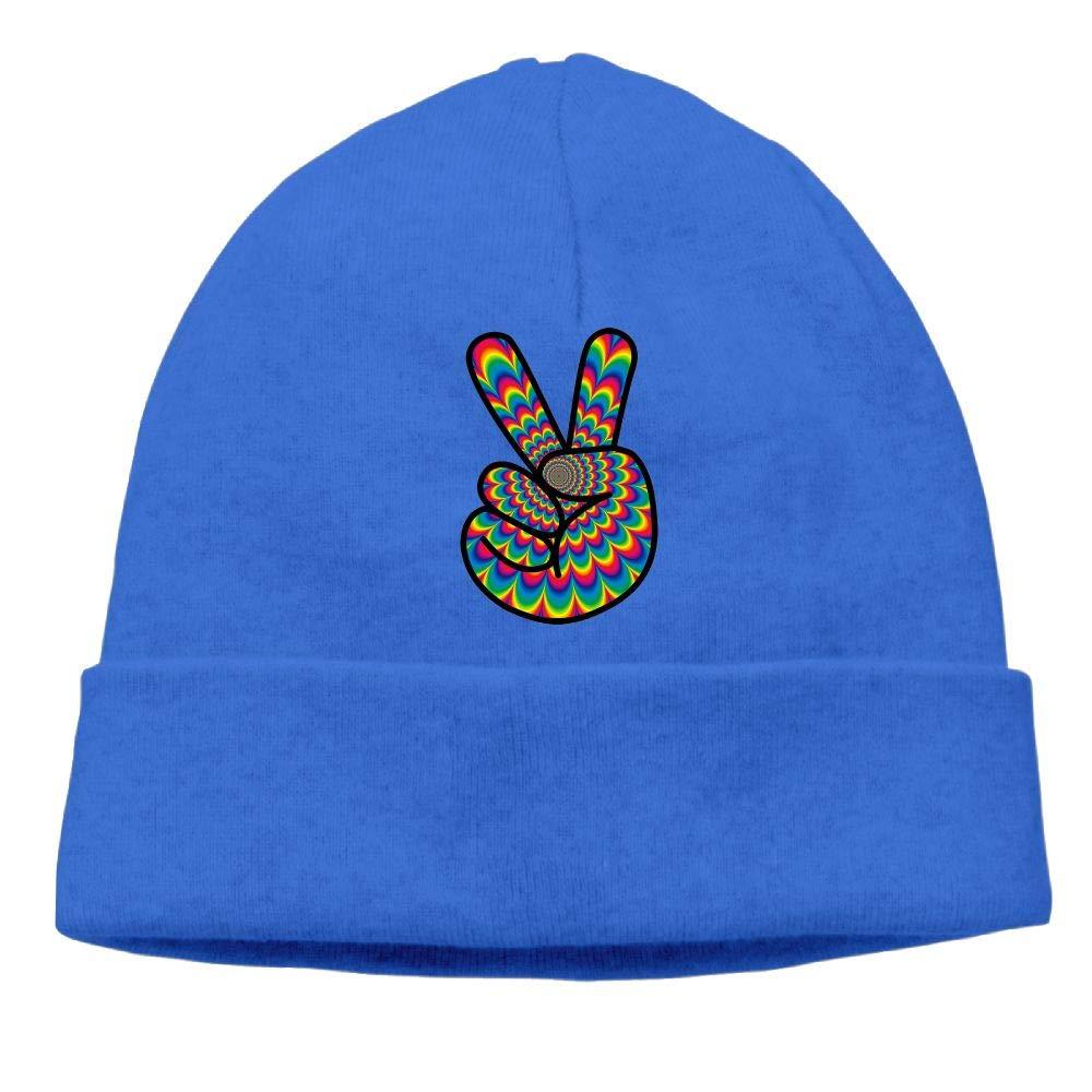 BF5Y3z/&MA Unisex Psychedelic Peace Hippie Knit Cap Winter Skiing Cap