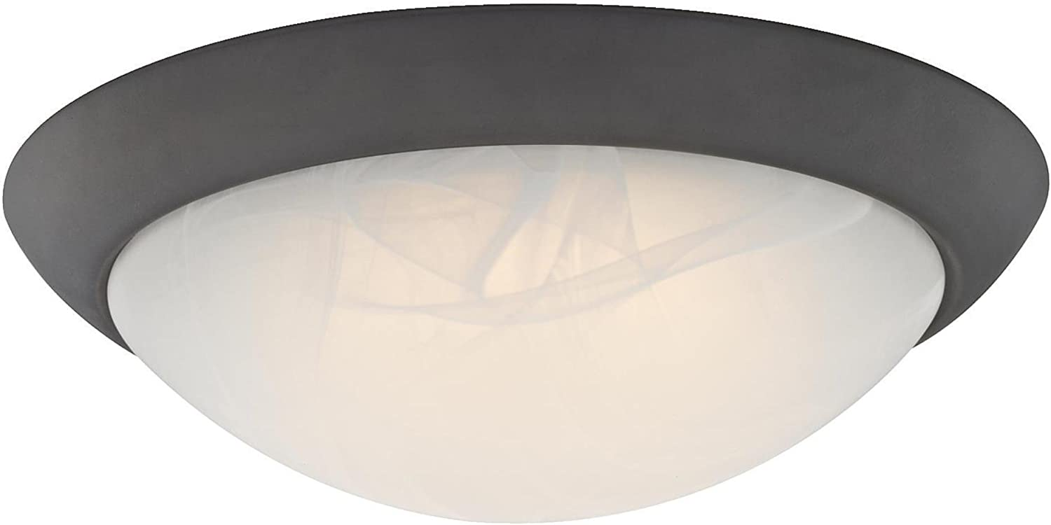 Westinghouse Lighting, Oil Rubbed Bronze 6308900 11-Inch LED Indoor Flush Mount Ceiling Fixture, Finish with White Alabaster Glass