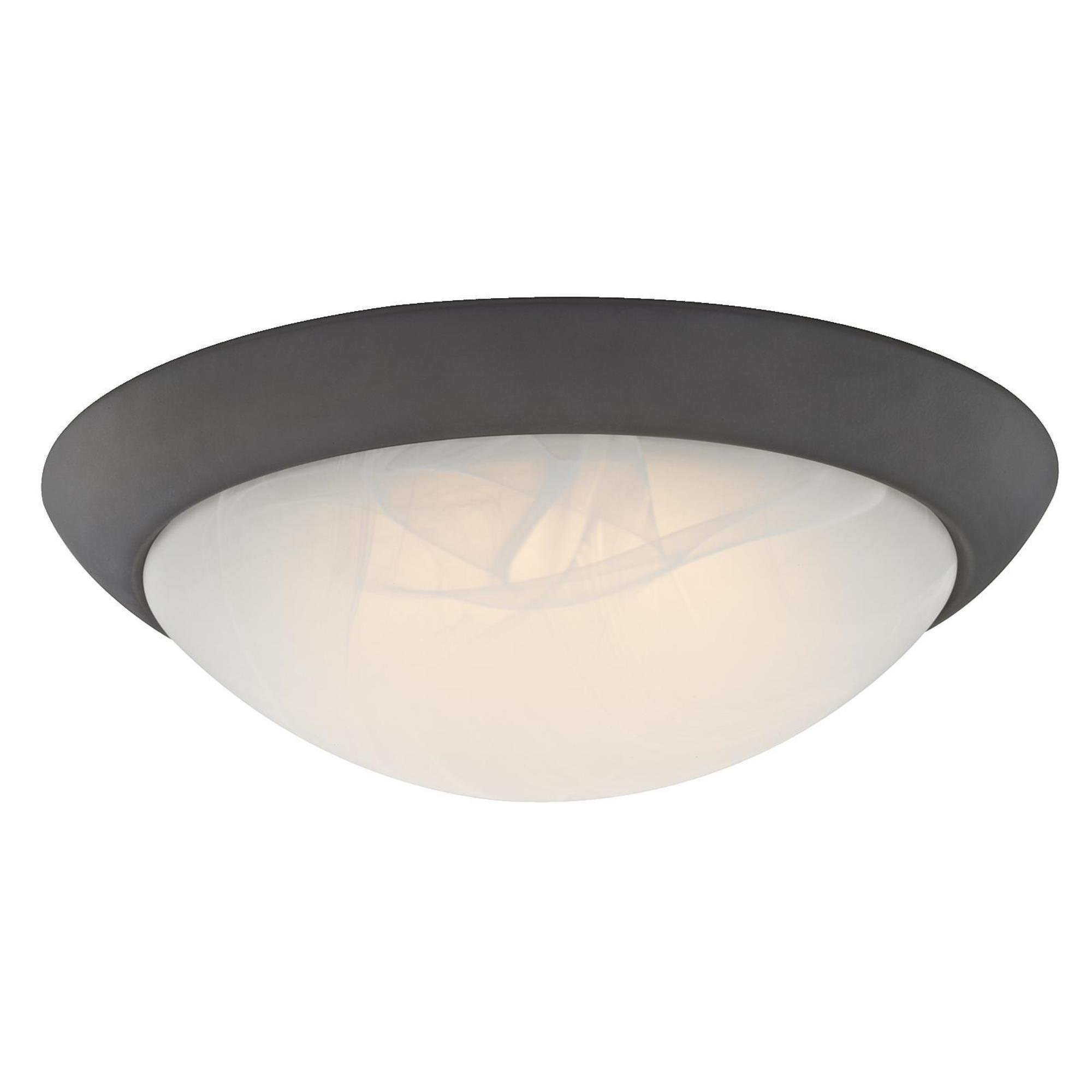 6308900 11-Inch LED Indoor Flush Mount Ceiling Fixture, Oil Rubbed Bronze Finish with White Alabaster Glass