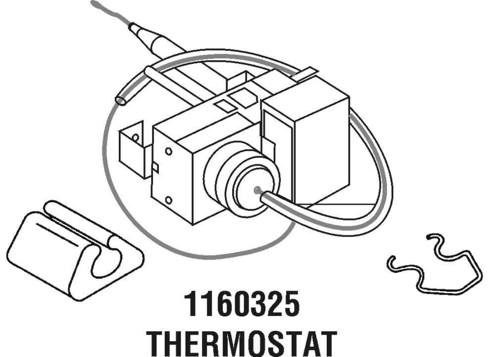 Whirlpool W1160325 Room Air Conditioner Thermostat Genuine Original Equipment Manufacturer (OEM) Part for Whirlpool, Kenmore, Roper, Kitchenaid, Crosley