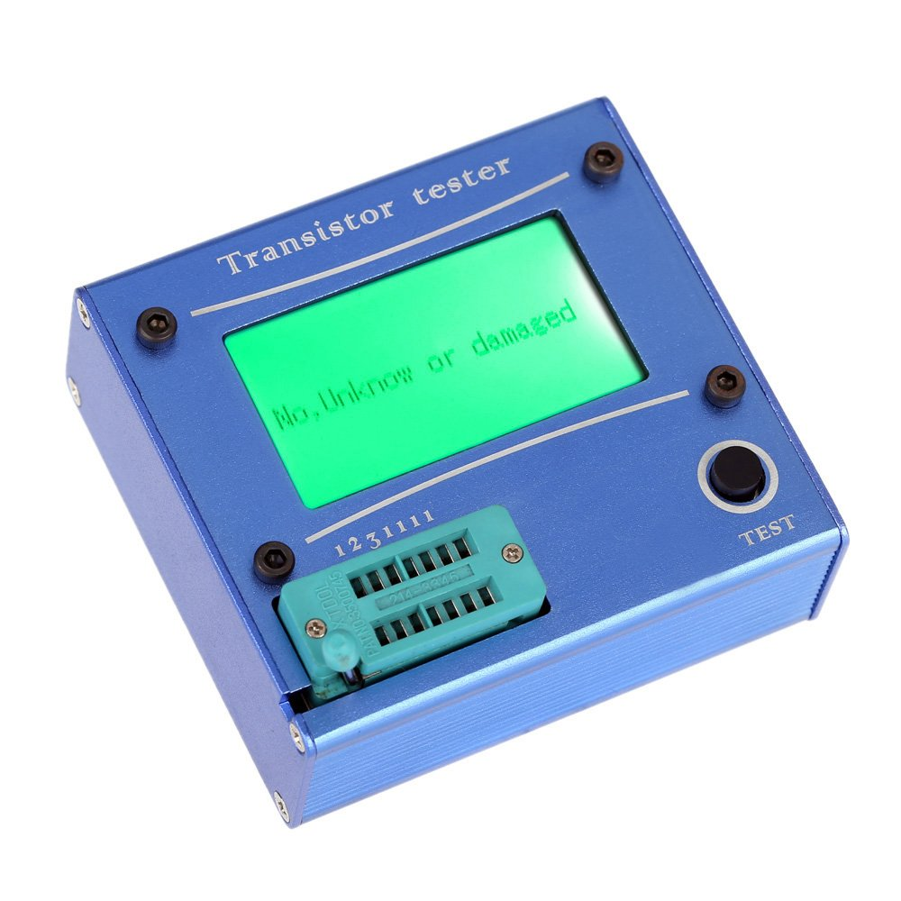 Multi-functional LCD Backlight Transistor Tester Diode Thyristor Capacitance ESR LCR Meter with Blue Aluminum Case