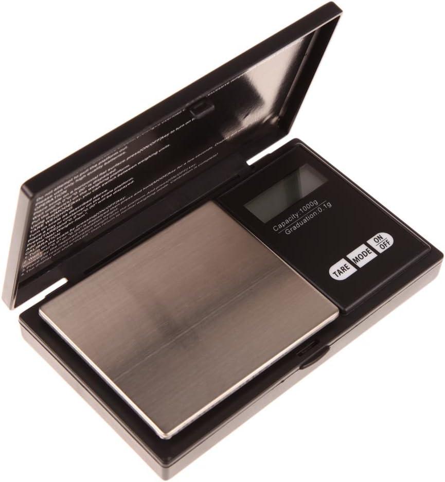 Hoosiwee Báscula Digitales de Precisión, 1000g 0.1g Balanzas de Portátiles, Báscula de Joyería, Función de Tara