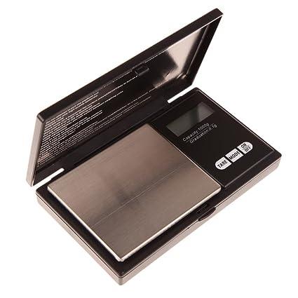 Hoosiwee Báscula Digitales de Precisión, 1000g 0.1g Balanzas de Portátiles, Báscula de Joyería