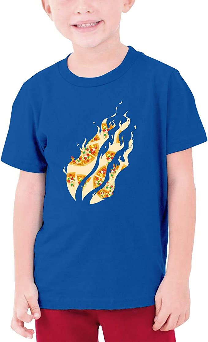 Boys Short Sleeve Flaming Skull Fire Kids Children 3D T Shirts Teenagers Tee Tops