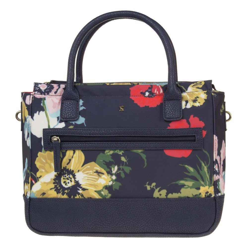 Joules French navy posy Fairford canvas purse