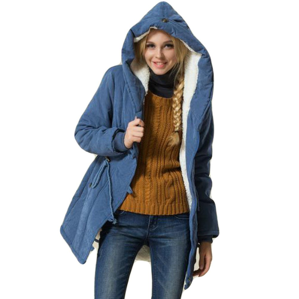 Greenis Winter Women Parkas Coat Hooded Cotton-padded Jacket