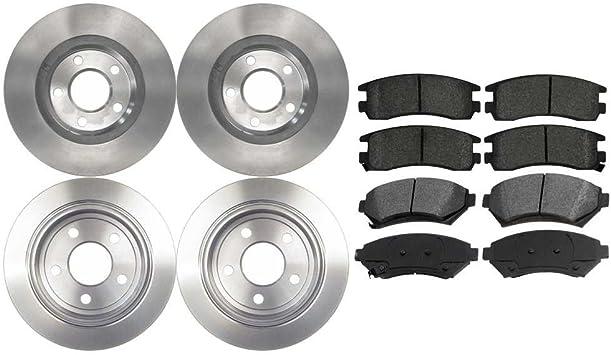 Auto Shack SCDR4207 4 Disc Brake Rotors and 8 Ceramic Pads