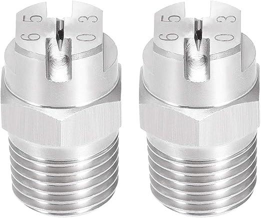 5 Pcs uxcell Flat Fan Spray Tip 1//8BSPT Male Thread PP Nozzle 65 Degree, 1.8mm Orifice Diameter