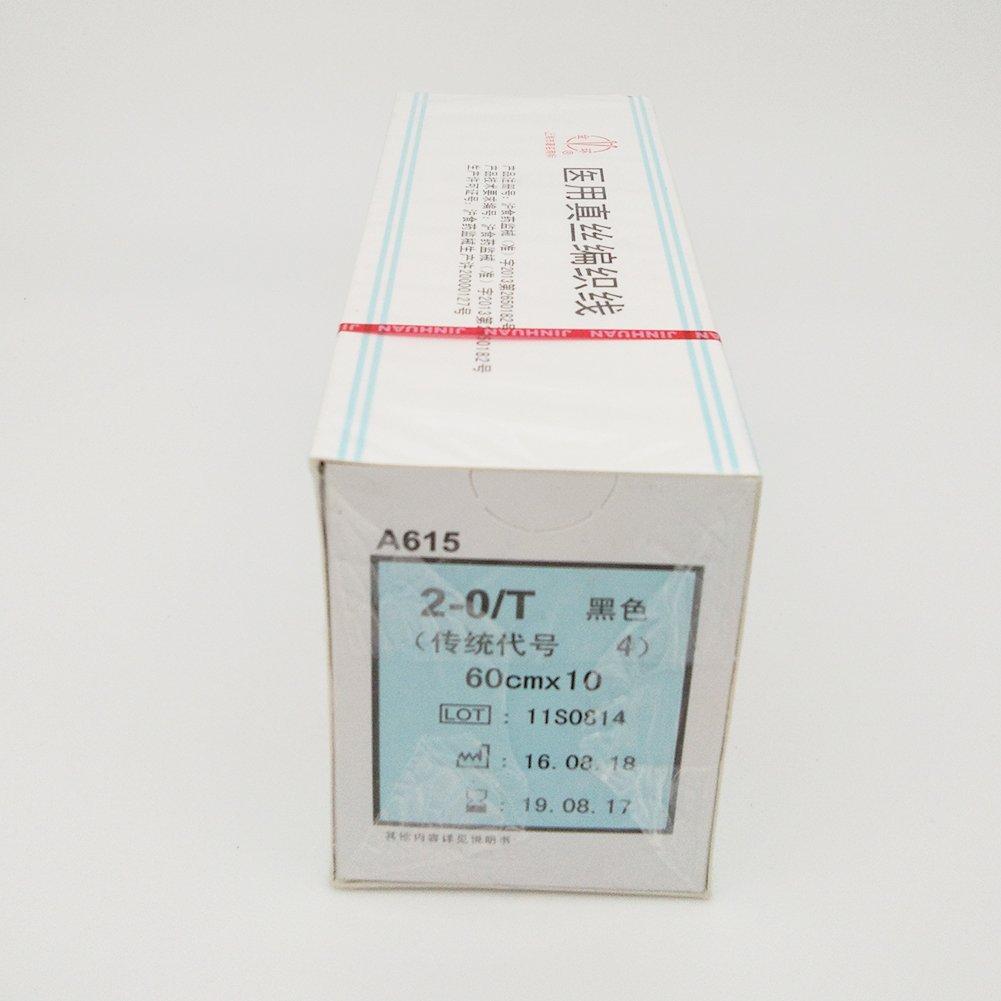 Veterinary Sutures Silk Braided 2-0/T One Box(12packs)