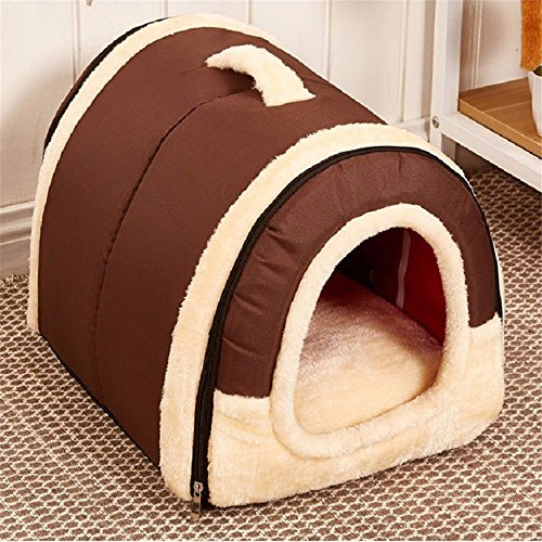 Multifuctional Dog House Nest with Mat Foldable Pet Cat Bed For Small Medium Dogs Travel Bag Product