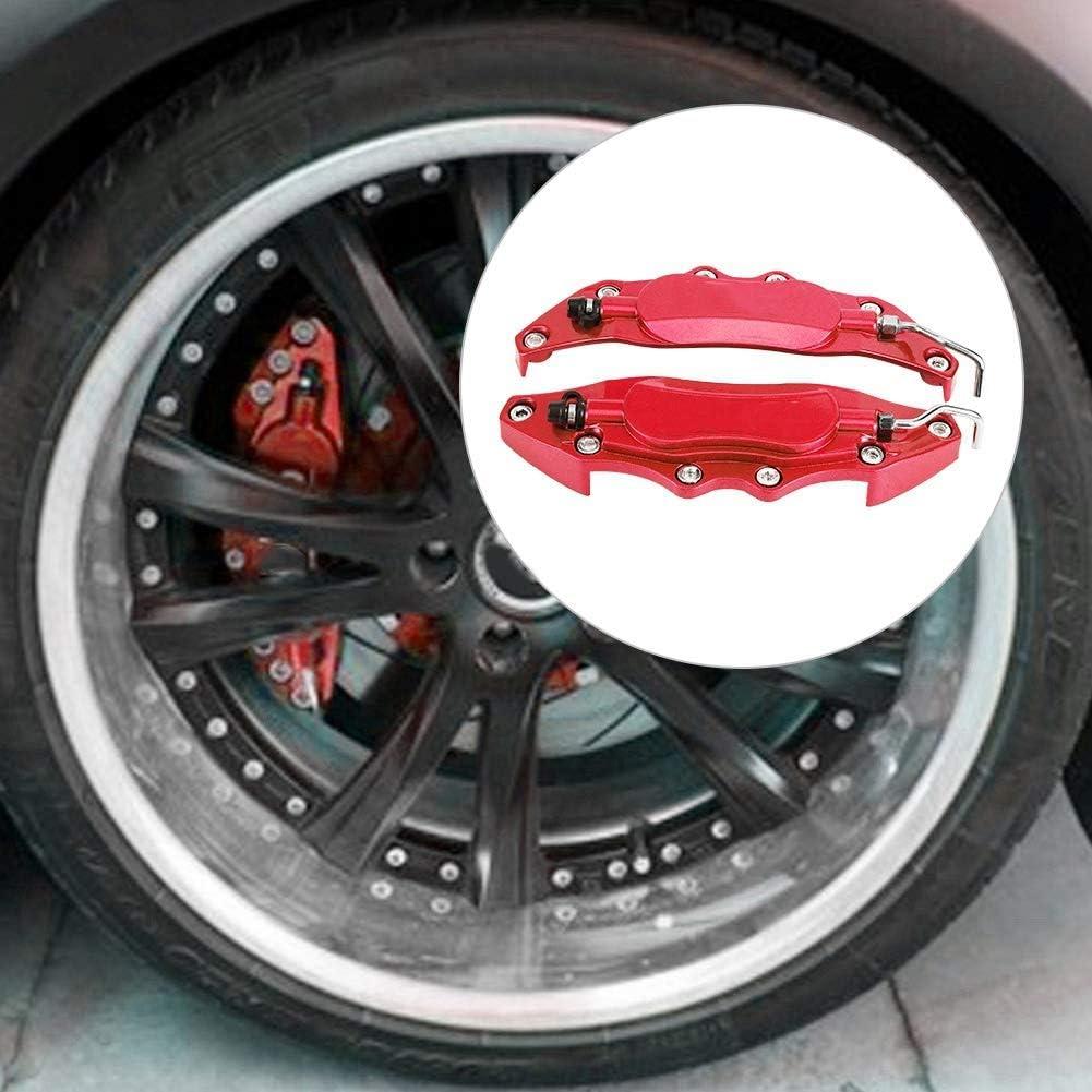 2pcs Brake Caliper Protector Cover Aluminum Alloy Brake Caliper Guard for Wheel Hub 14in-15in Small Red