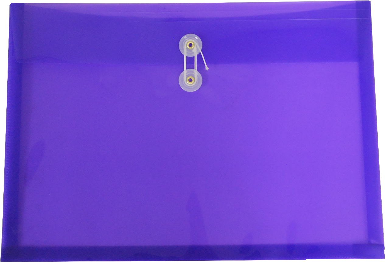 Filexec Poly envelope, Legal size, Side load, Button string closure, Purple (Pack of 6) (50069-15104)