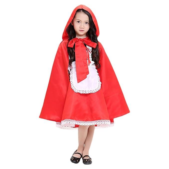 Disfraz de Criada para ninas traje medieval Costume Cosplay Halloween Talla  M  Amazon.es  Ropa y accesorios 119f76e3ef5
