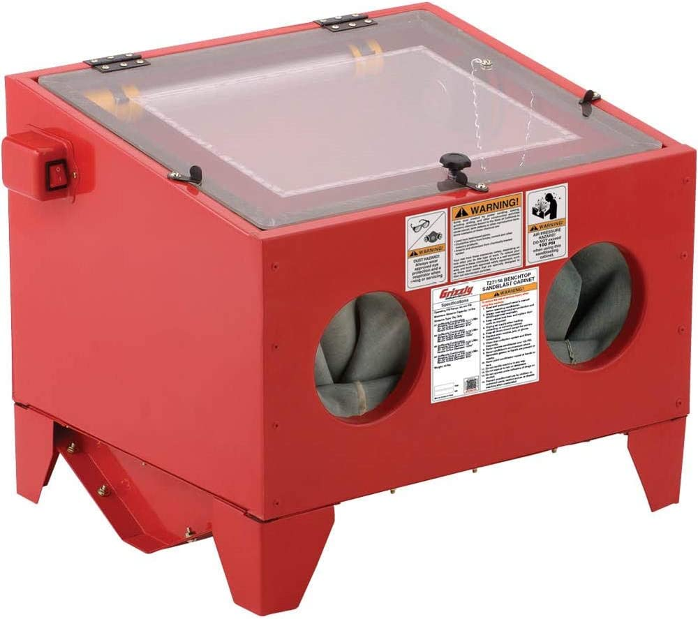 Grizzly T27156 - Top-Loading Benchtop Sandblast Cabinet