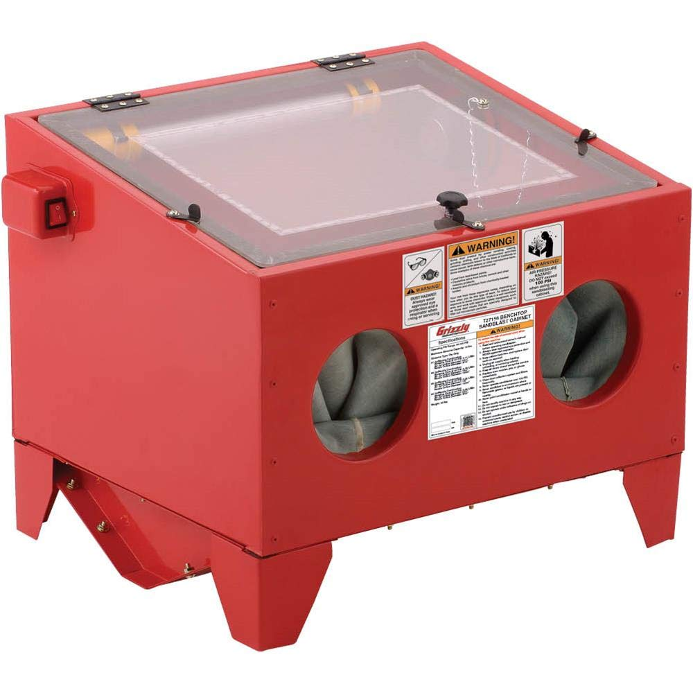 Grizzly Industrial T27156 - Top-Loading Benchtop Sandblast Cabinet by Grizzly Industrial (Image #1)