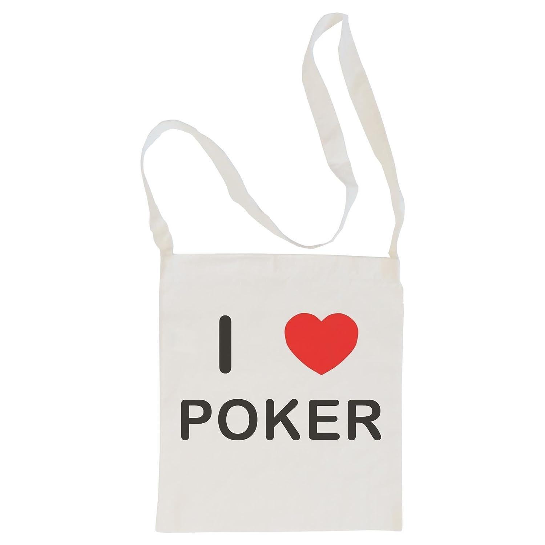 I love Poker Cotton Maxi Shopping Bag