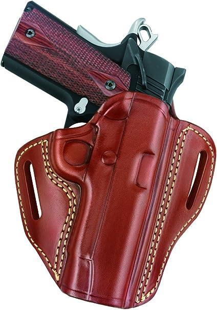 Wilson Combat Compact OWB 1911 Leather 2 Slot Molded Pancake Belt Holster BLACK