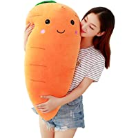 Carrot Plush Toy Creative Cute Facial Expression Carrot Soft Dolls Baby Kids Festival Birthday Gifts Present Keepsakes…