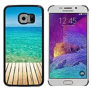 EJOY---Cubierta de la caja de protección la piel dura para el ** Samsung Galaxy S6 EDGE ** --Blue Paradise Agua