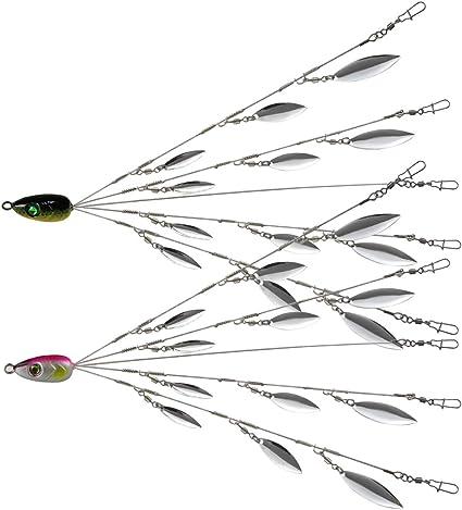 5 Pcs ALABAMA Rig 5 Wire Arms Umbrella Bass Fishing Umbrella Rig 5 Colors SG DD