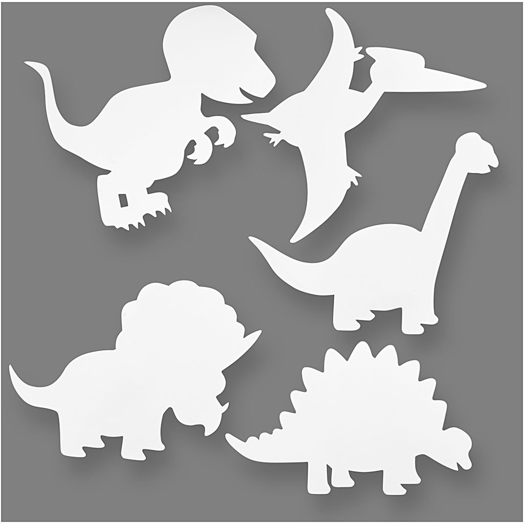 Dinosaurs, H: 15-22 cm, 16 asstd, 230 g Teach Me