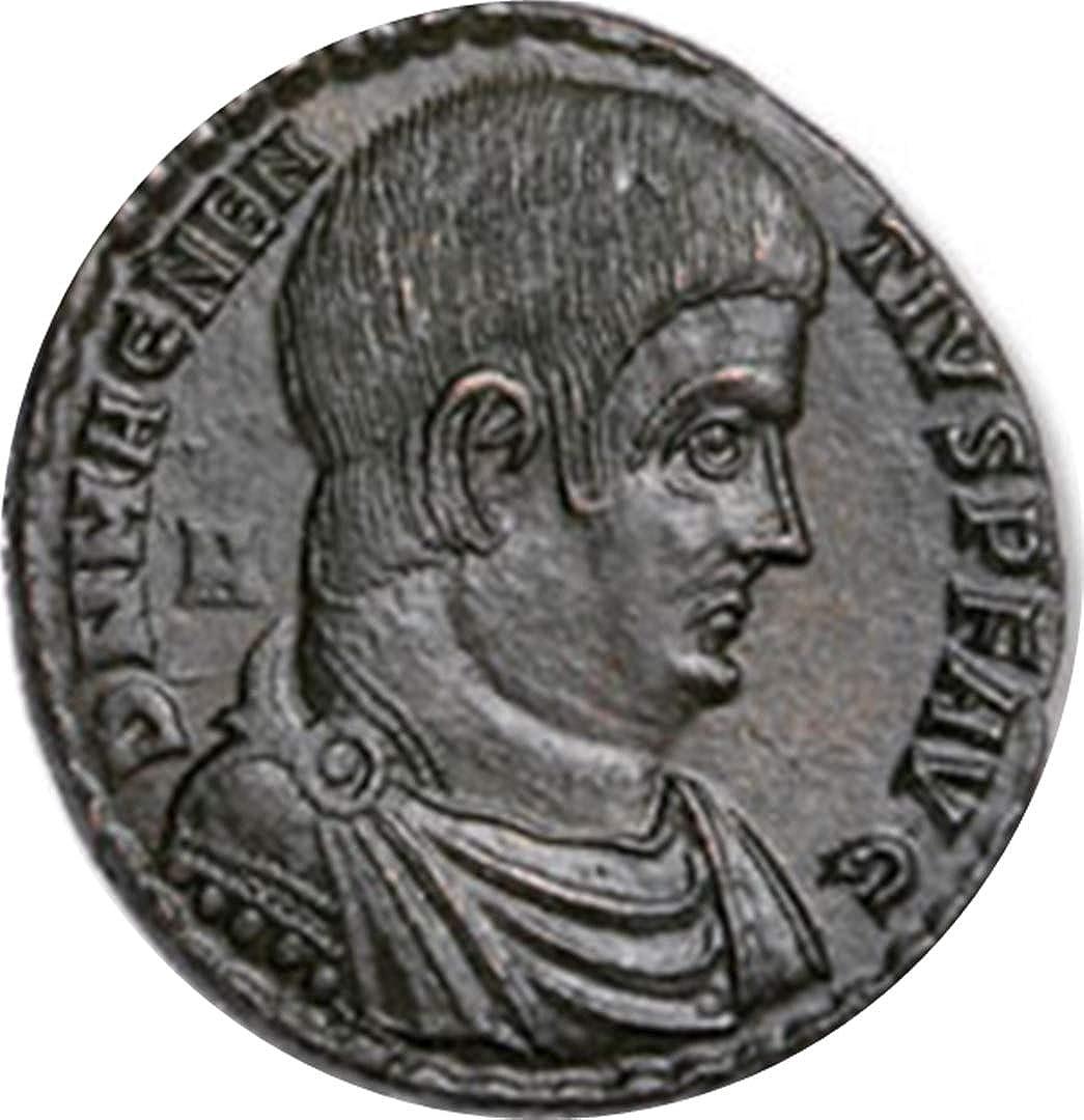Chewies 350-353 AD Magnentius Bronze Centenionalis, Siegrückseite, sehr feiner Zustand oder Besser, kostenlose Rücksendung bei Nichtzufriedenheit