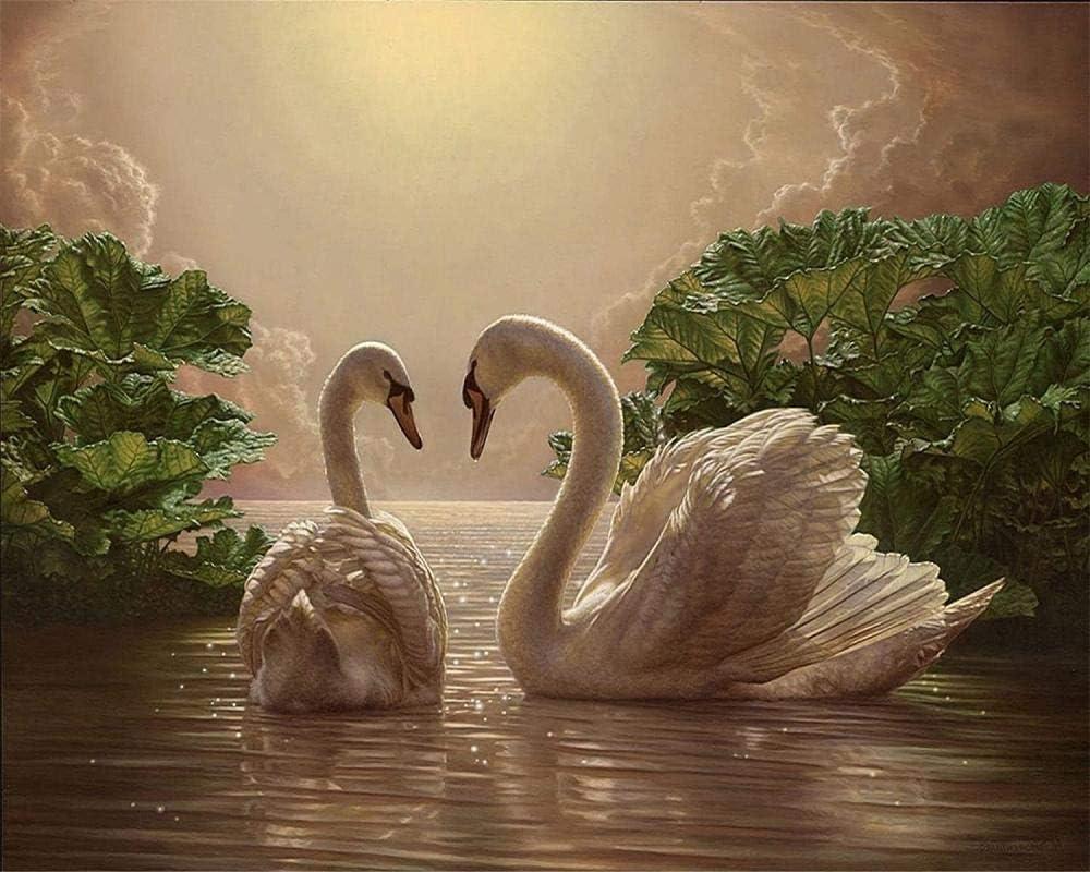tuoweilai Cisne de Color Wow Decor sin Marco en el Agua ...