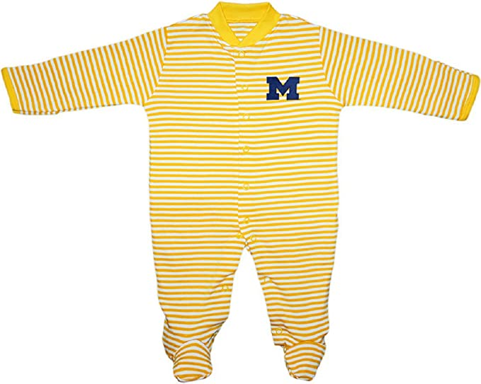 Amazoncom University Of Michigan Wolverines Block M Striped