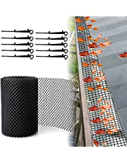 Gutter Guards, Roof Guard Eaves Protector, Blade Protection Anti Clogging Roof Panels Net, Plastic Cover with Stakes, Gutter Guard Plastic Mesh, Leaf Filter Gutter Strainer