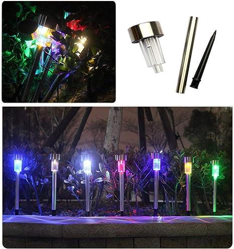 NewbieBoom - Farol Solar para jardín (LED, sin Aire, plástico, luz Solar, paisajismo): Amazon.es: Hogar