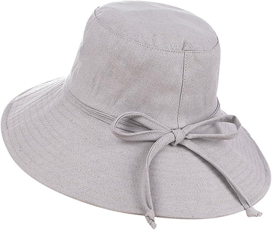 Sombrero de playa sol plegable mujeres gorra visera de algodón Large borde anti-UV protección solar Capeline primavera para viaje vacaciones de verano Camping pesca y otros actividad en plein air