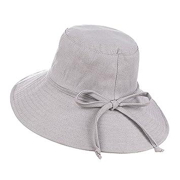 Sombrero de playa sol plegable mujeres gorra visera de algodón Large borde  anti-UV protección 2feb3339d0c