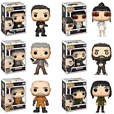Funko Pop Movies Blade Runner 2049 Officer K, Deckard, Wallace, Luv, Sapper, Joy Vinyl Figues SET: Toys & Games