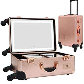 Luvodi Professional Rolling Makeup Case Cosmetic Trolley Storage