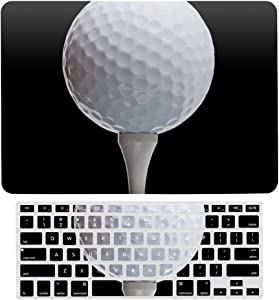 MacBook Air 13 Inch Case(A1369 & A1466, Older Version 2010 2017 Release), Plastic Hard Protective Laptop Case Shell with Keyboard Cover, Golf Ball Tee On Black