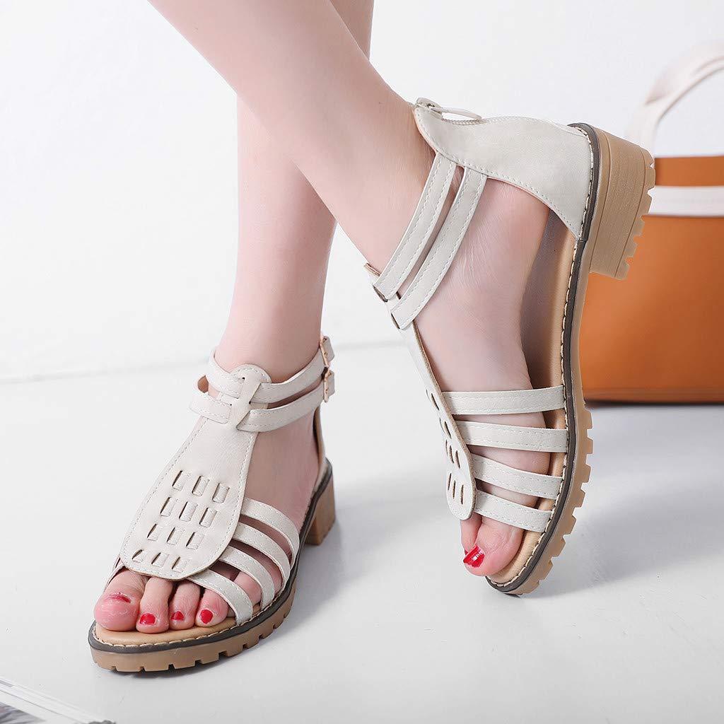 Summer Sandals for Women Sandals Wedge Sandals Bohemian High Heel Sandals Casual Roman Sandals