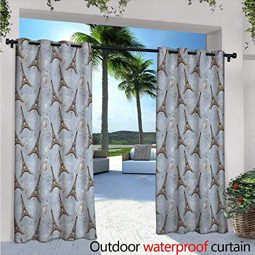 (Eiffel Outdoor- Free Standing Outdoor Privacy Curtain W84