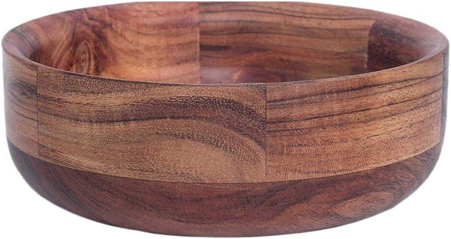 Ciotola da portata rotonda in legno per frutta snack dessert Kaizen Casa