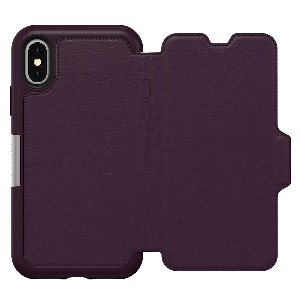 premium selection 7efec 9c0ab OtterBox Strada Series Case for iPhone Xs & iPhone X - Retail Packaging -  Royal Blush (Winter Bloom/Cameo Rose)