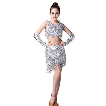 Supfirefly Danza Latina Mujer Traje Baile Falda Cha Cha Salsa ...