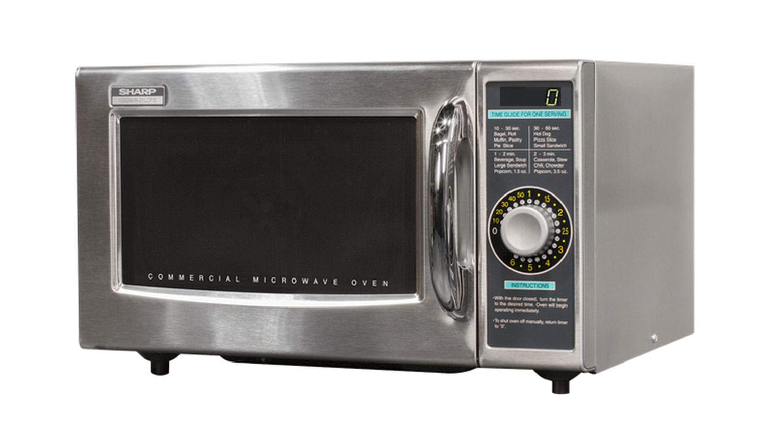 Sharp R-21LCF Medium Duty Commercial Microwave (Dial Timer, 1000-Watts, 120-Volts)