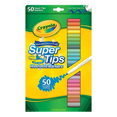 Crayola Super Tips Washable Markers-50/Pkg - Styles May Vary: Toys & Games