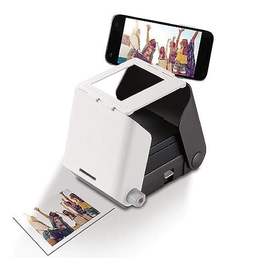 SHIYN Impresora portátil de Fotos portátil, Impresora compacta ...
