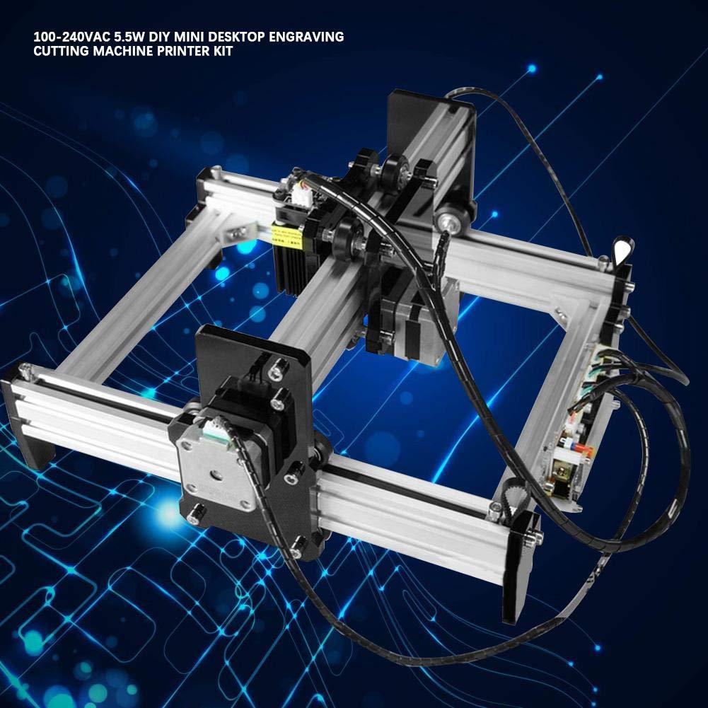 VG-l5 Plotter de marcado de máquina de grabado de láser pequeño 100-240VAC 5.5W Kit de impresora de máquina de corte de escritorio Mini DIY(EU plug): Amazon.es: Industria, empresas y ciencia