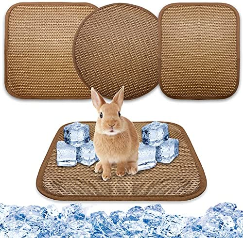 Tlswshsy 3 Pack Pet Cooling Mats – Sleeping Pad,Washable Cool Cage Liner Ice Bed,Small Pet Summer Cooling Supplies,3 Style Pet Cooling Mat