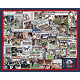 "New England Patriots 2015 Super Bowl XLIX Newspaper Collage Print Art-16x20"" Unframed Print"